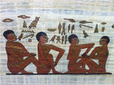Egyptian papyrus of Reflexology.JPG small